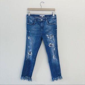 ZARA distress skinny jeans